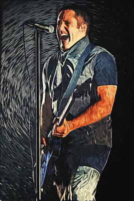 Trent Reznor Poster by Taylan Apukovska