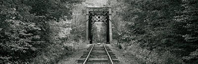 Trestle Bridge Over Railroad Track Poster by Panoramic Images