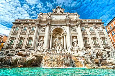 Trevi Fountain - Rome Poster