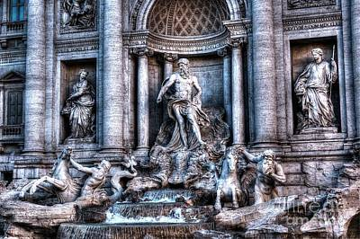 Poster featuring the photograph Trevi Fountain by Joe  Ng