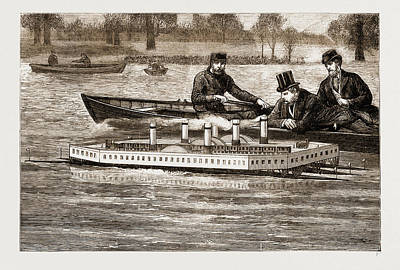 Trial Of A New Steam Channel Ferry On The Serpentine Poster by Litz Collection