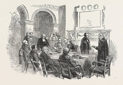 Trial Of The Pyx At The Office Of The Comptroller-general Poster by English School
