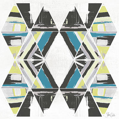 Triangle Pattern I Poster by Shanni Welsh