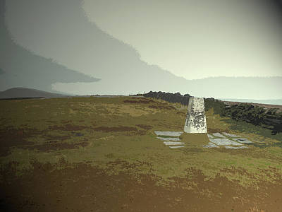 Triangulation Pillar At Shining Tor, Depending Poster by Litz Collection