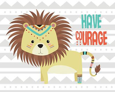 Tribal Lion Poster by Tamara Robinson