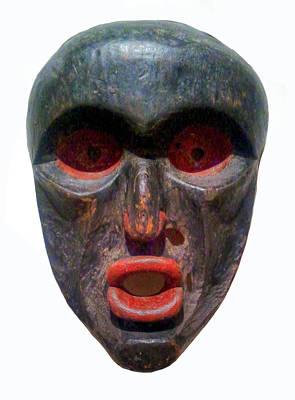 Tribal Mask Poster by Guy Harnett