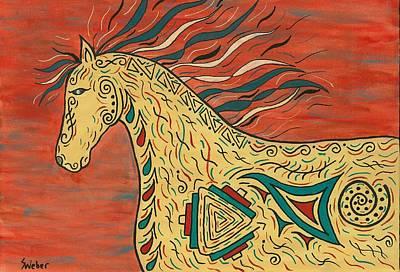 Tribal Spirit Horse Poster