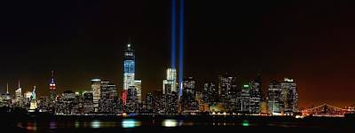 Tribute In Light From Bayonne Poster by Nick Zelinsky