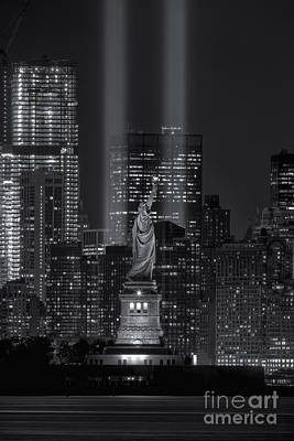 Tribute In Light Xvi Poster by Clarence Holmes