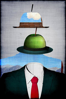 Tribute To Rene Magritte Poster by Andrei SKY