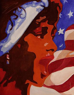 Tribute To Whitney Houston Poster by Xueling Zou