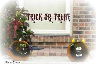 Trick Or Treat Poster by Skyler Tipton