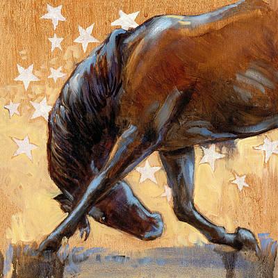 Tricky Pony Reverse Poster by Tracie Thompson