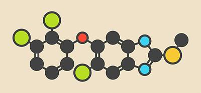 Triclabendazole Anthelmintic Molecule Poster