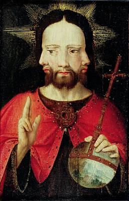 Trinitarian Christ, C.1500 Oil On Panel Poster by Flemish School