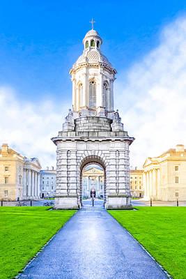 Trinity College Campanille - Dublin Ireland Poster