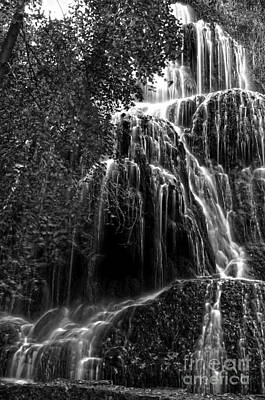 Trinity Waterfall In Monasterio De Piedra Park Bw Poster by RicardMN Photography