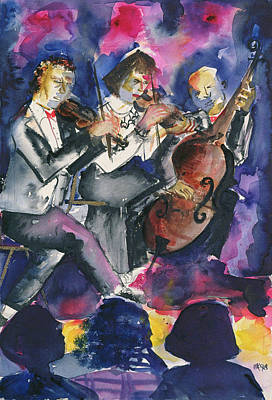 Trio, 1998 Wc On Paper Poster