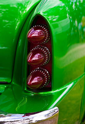 Poster featuring the photograph Triple Vertical Tail Lights by Mick Flynn