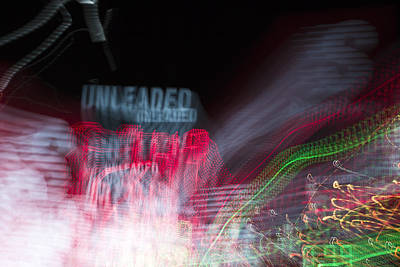 tripping on psychedelic Unleaded Gas price experimental photography Poster