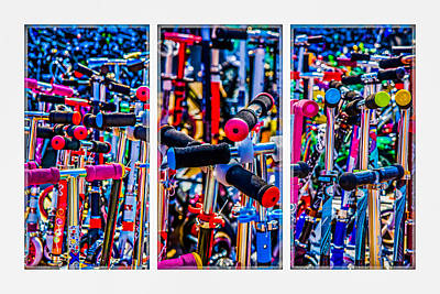 Triptych - High Time To Buy A Scooter Poster by Alexander Senin