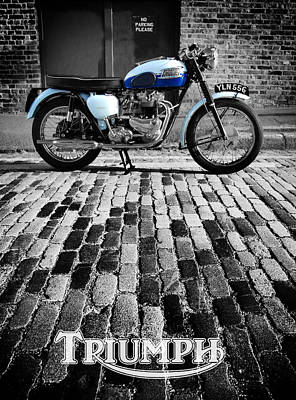 Triumph Bonneville Poster by Mark Rogan