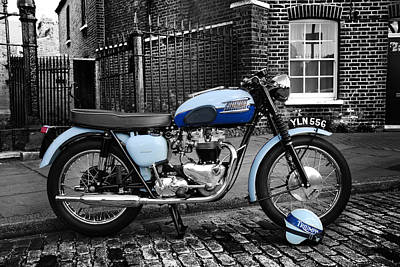 Triumph Bonneville T120 1960 Poster by Mark Rogan