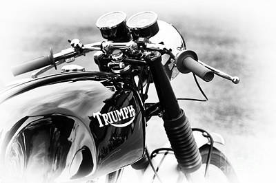 Triumph Cafe Racer Poster by Tim Gainey