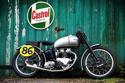 Triumph Grand Prix 1949 Poster by Mark Rogan