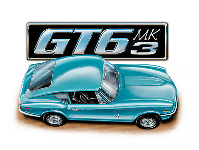 Triumph Gt-6 Mark 3 French Blue Poster by David Kyte