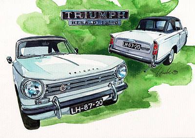 Triumph Herald Poster by Yoshiharu Miyakawa