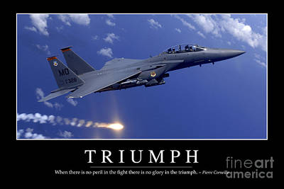 Triumph Inspirational Quote Poster by Stocktrek Images