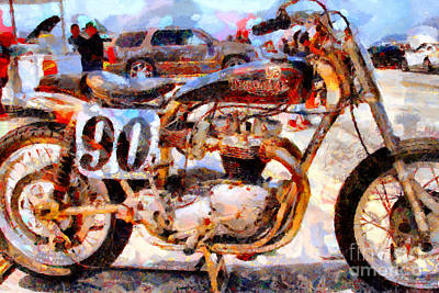 Triumph Motocycle . Painterly . 7d15318 Poster by Wingsdomain Art and Photography