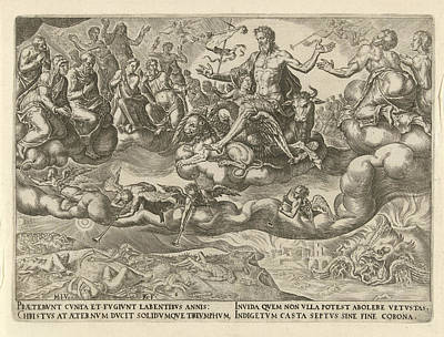 Triumph Of Christ Or The Eternity, Philips Galle Poster