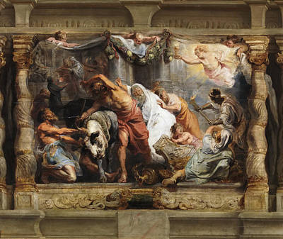 Triumph Of The Eucharist Over Idolatry Poster