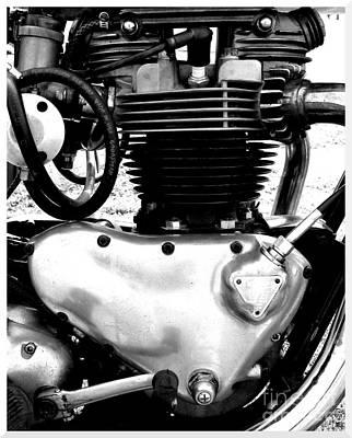 Triumph Pre-unit Engine Poster by Rick Salazar