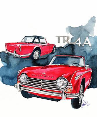 Beautifully Designed Triumph Tr4a Posters | Fine Art America
