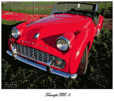 Triumph Tr-3 Poster by Don Struke