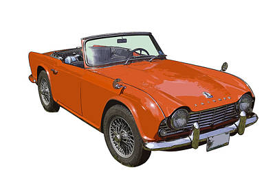 Triumph Tr4 - British - Sports Car Poster by Keith Webber Jr