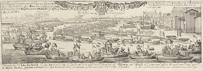 Triumphal On The Water At The Arrival In London Of King Poster