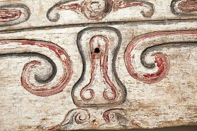Trobriand House Panel Penis Vulva Design Poster