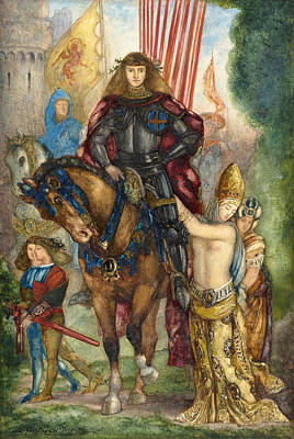 Trooper And Captives Poster by Gustave Moreau