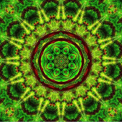 Tropic Leaf Pattern Mandala Poster