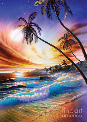 Tropical Beach Poster by Adrian Chesterman