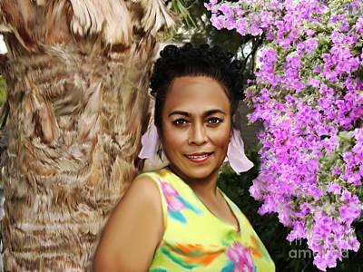 Tropical Beauty Poster by Linda Gleason Ritcie