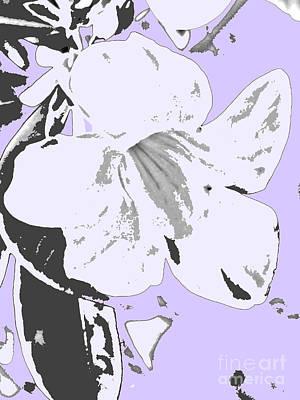 Tropical Floral Violet Black Poster