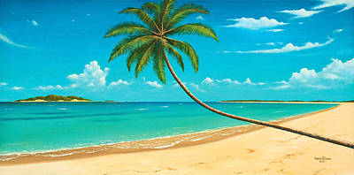 Tropical Island Poster by James Zeger