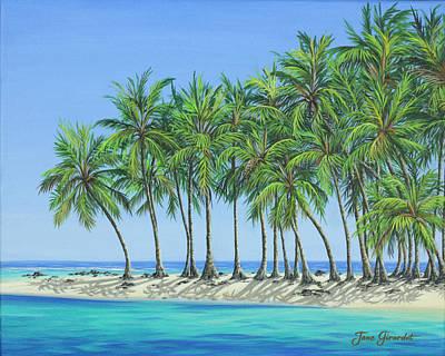 Tropical Lagoon Poster by Jane Girardot