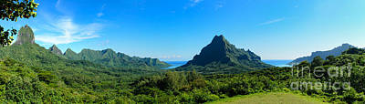 Tropical Moorea Panorama Poster