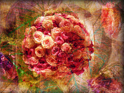 English Rose Bouquet Poster